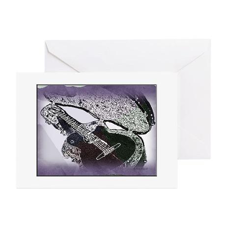 Smooth Jazz Guitar Greeting Cards (Pk of 10)