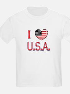I Love U.S.A. Kids T-Shirt