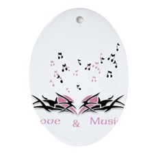 Love & Music Ornament (Oval)