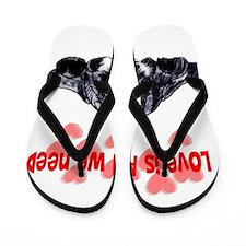 schnauzer love Flip Flops