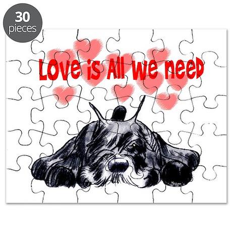 schnauzer love Puzzle
