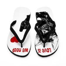 schnauzer love is all you need Flip Flops