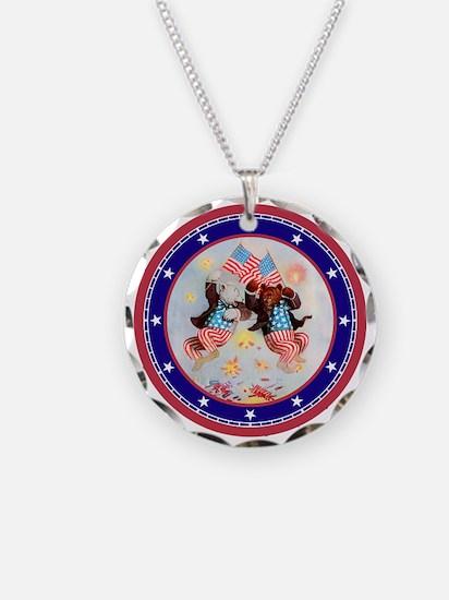 Roosevelt Bear Patriots Necklace