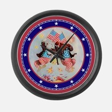 Roosevelt Bear Patriots Large Wall Clock