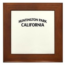 Huntington Park California Framed Tile