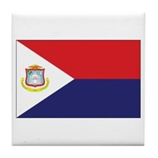 Sint Maarten Flag Tile Coaster