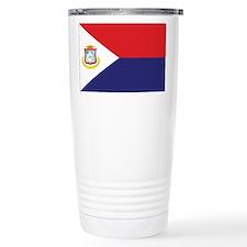 Sint Maarten Flag Travel Mug