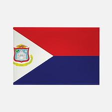 Sint Maarten Flag Rectangle Magnet