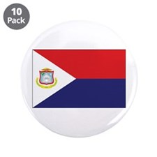 "Sint Maarten Flag 3.5"" Button (10 pack)"