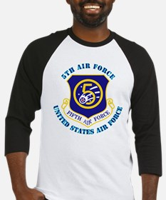 5th Air Force with Text Baseball Jersey