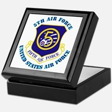 5th Air Force with Text Keepsake Box