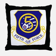 5th Air Force Throw Pillow