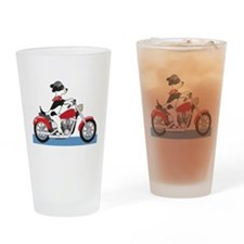Dog Motorcycle Drinking Glass
