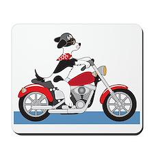 Dog Motorcycle Mousepad