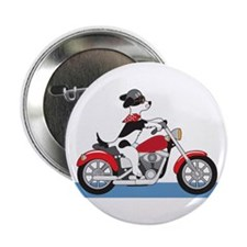 """Dog Motorcycle 2.25"""" Button"""