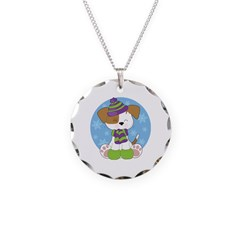 Cute Puppy Winter Necklace
