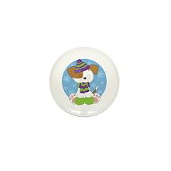 Cute Puppy Winter Mini Button (100 pack)