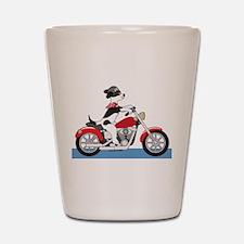 Dog Motorcycle Shot Glass
