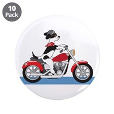 "Dog Motorcycle 3.5"" Button (10 pack)"