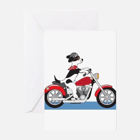 Dog Motorcycle Greeting Card