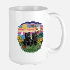 AutumnSun-Two black Pugs Mug