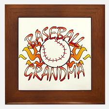 Baseball Grandma Framed Tile