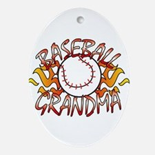 Baseball Grandma Ornament (Oval)