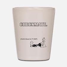 Checkmate I Win Shot Glass