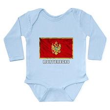 Flag of Montenegro Long Sleeve Infant Bodysuit