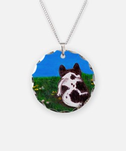 French Bulldog Painting Necklace