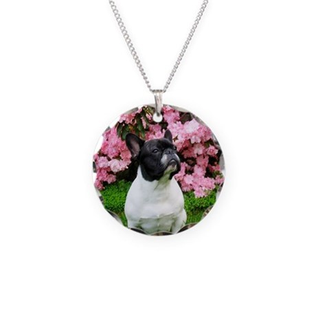 French Bulldog Portrait Necklace Circle Charm