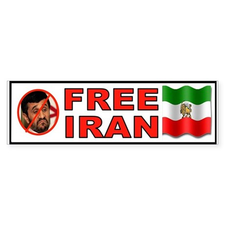 FREE IRAN NOW Sticker (Bumper)