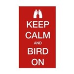 Keep Calm and Bird On Sticker (Rectangle)