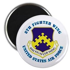 "8th Fighter Wing with Text 2.25"" Magnet (100 pack)"