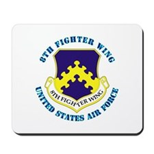 8th Fighter Wing with Text Mousepad
