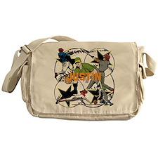 Custom Baseball Name Messenger Bag