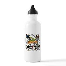 Custom Baseball Name Water Bottle