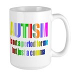 Autism is not a period Large Mug