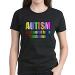 Autism is not a period Women's Dark T-Shirt