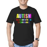 Autism is not a period Men's Fitted T-Shirt (dark)