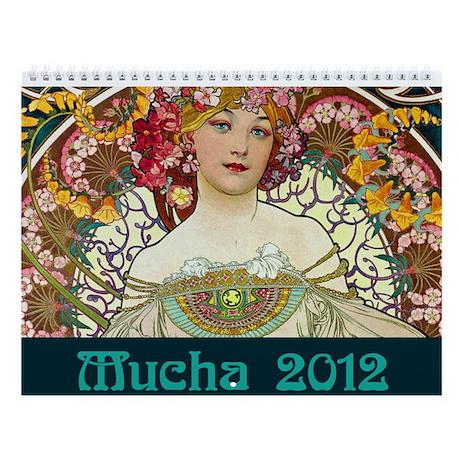Alphonse Mucha Wall Calendar