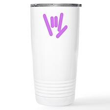 ASL Rocks: Purple Travel Mug