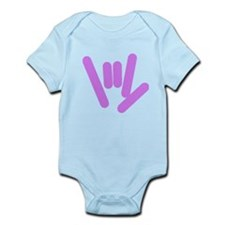 ASL Rocks: Purple Infant Bodysuit