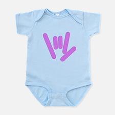 ASL Rocks: Purple Infant Bodysuit