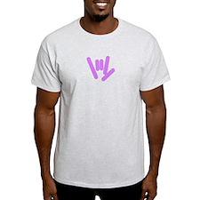 ASL Rocks: Purple T-Shirt