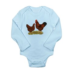 New Hampshire Chickens Long Sleeve Infant Bodysuit