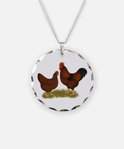 New Hampshire Chickens Necklace