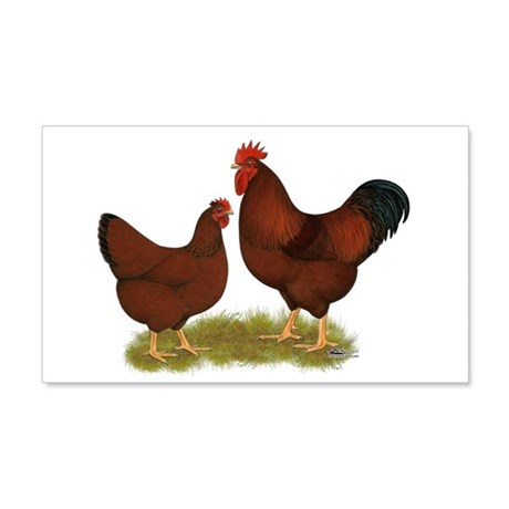 New Hampshire Chickens 22x14 Wall Peel