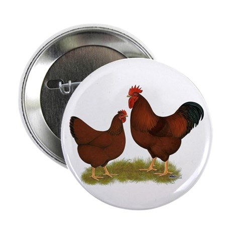 """New Hampshire Chickens 2.25"""" Button"""