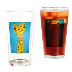 Jiffy the Giraffe Drinking Glass